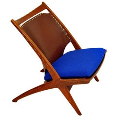 "Krysset ""Cross"" Lounge Chair from 1956 by Fredrik Kayser, Norway"