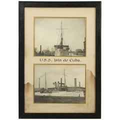 Photograph of the U.S.S. Isla De Cuba Warship