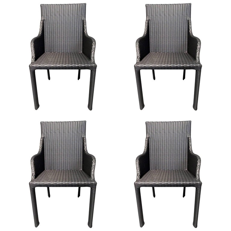 Set of Four Bridge Armchairs Bel Air Collection Design by ...
