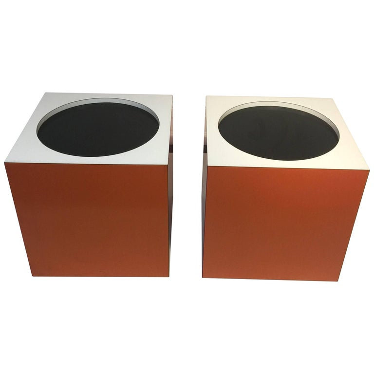 Mod Verner Panton Style Cube Side Tables/Stools