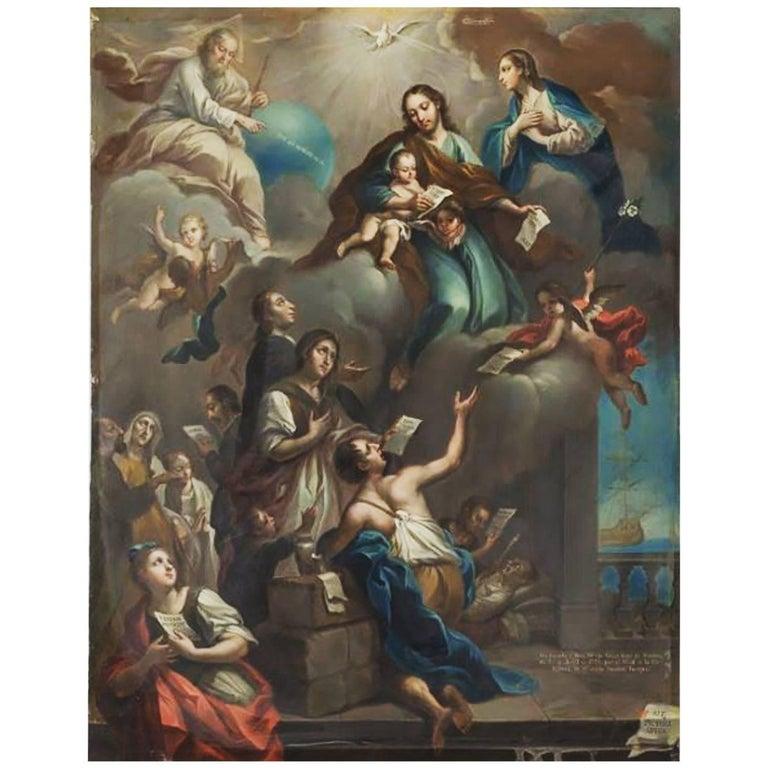 <i>Saint Joseph's Dream,</i> 1774, by Joans Patris Morlete Ruiz, offered by Diptych Fine Arts