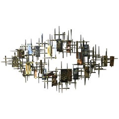 Brutalist Multi-Metal Wall Sculpture by R. H. Berger