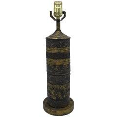 1960s Italian Aldo Londi for Bitossi Gilt Lamp