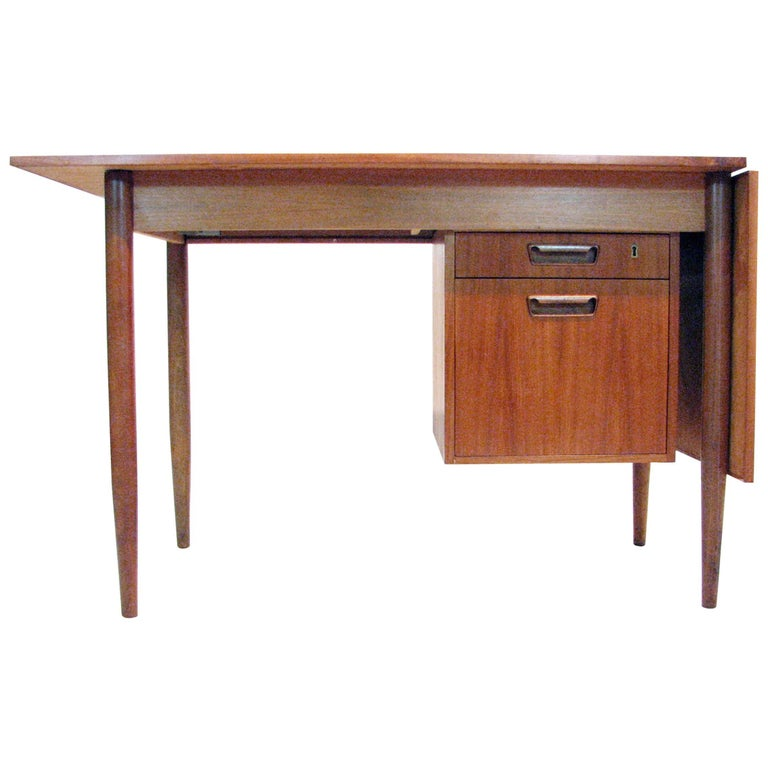 Versatile Mid-Century Teak and Rosewood Desk by Gunnar Nielsen Tibergaard For Sale