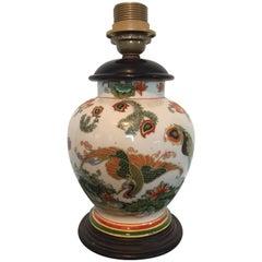 20th Century Japanese Ceramic Table Lamp, Showa Period 1930