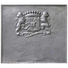 19th Century French Coat of Arms Fireback