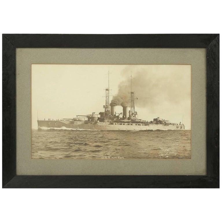 Photograph of the USS New York, Naval Battleship, 1914-1948