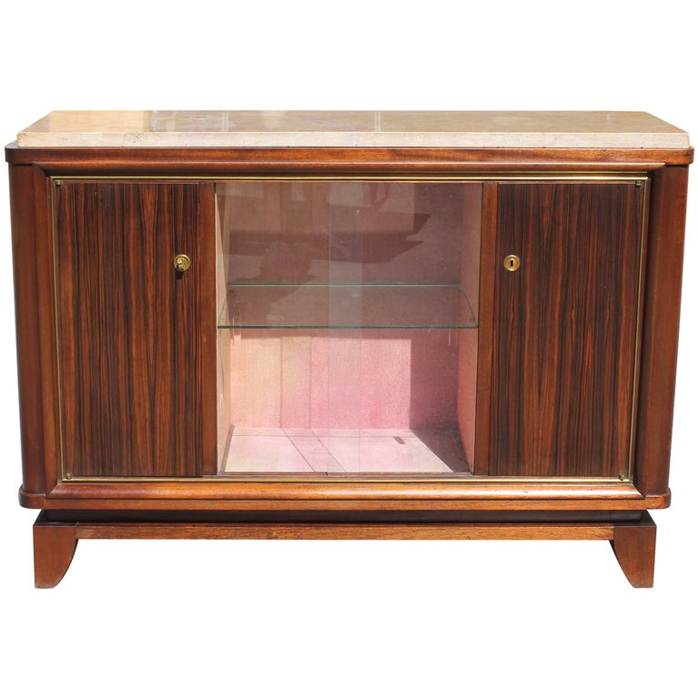 Fine French Art Deco Macassar Ebony Sideboard by Maurice Rinck, circa 1940s