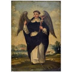 """""""Saint Ferrer"""", Oil on Tin"""