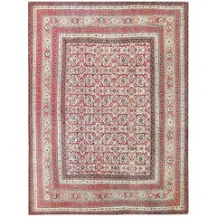 Antique Indian Agra Rug. Size: 10 ft x 13 ft 10 in (3.05 m x 4.22 m)
