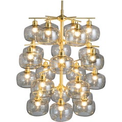 Eight Large Swedish Chandeliers by Holger Johansson, 1952