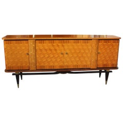 French Art Deco Macassar Sideboard or Buffet by Jules Leleu Style
