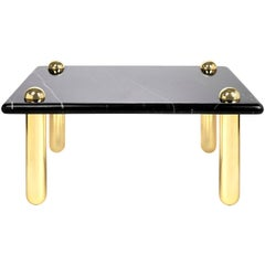 Ultra Black Marble Cocktail Table