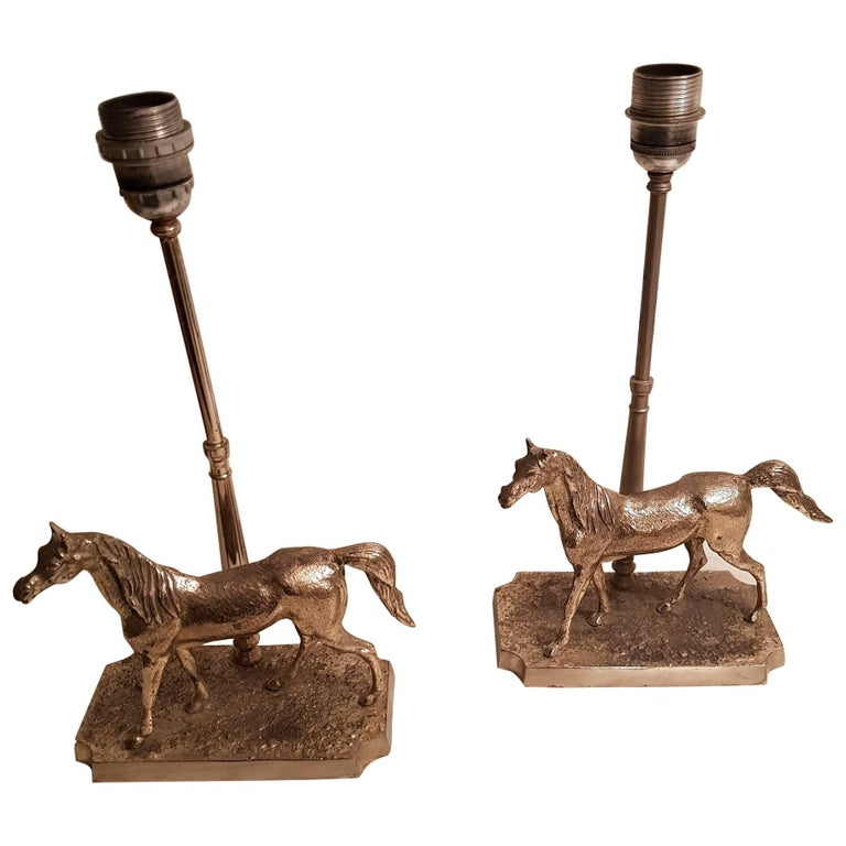 Silver plated horse table lamps for sale at 1stdibs silver plated horse table lamps for sale aloadofball Gallery