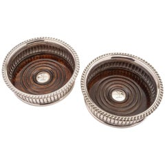 Pair of Sheffield Plated Coasters, circa 1840