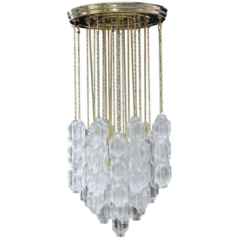 Murano Chandelier with Abstract Glass Elements, 1960s