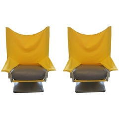Pair of AEO Chairs by Paolo Deganello, Archizoom Cassina