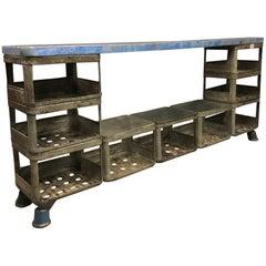 Blue Industrial Shelving Unit by Hrdla Design