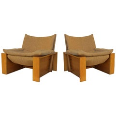Italian Cubic Lounge Chairs, circa 1978
