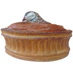 French Trompe L'oeil Porcelain Partridge Pâté Tureen Pillivuyt Mehun