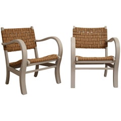 Pair of 1920 Armchairs by Erich Dieckmann