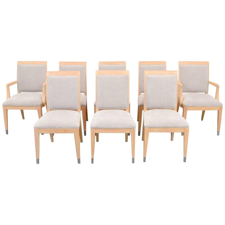 Jay Spectre Dining Chairs, Set of Eight
