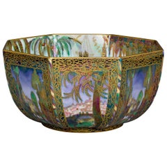 Fairyland Lustre Castle on a Road Bowl by Wedgwood