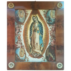 Virgin of Guadalupe, Oil on Copper, 18th Century