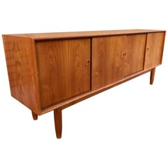 Classic Danish Modern Credenza or Sideboard by Illum Wikkelso