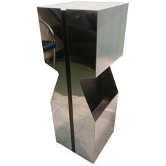 Illuminated Magazine Plant Pedestal by Neal Small 1970s, Offered by La Porte