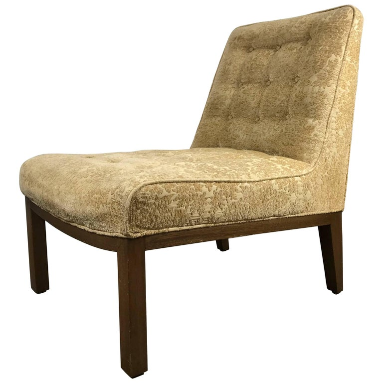 Classic Modern Slipper Chair Designed by Edward Wormley for Dunbar