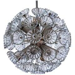 Modern Glass Flower Starburst Silver Dandelion, 1960s, Germany