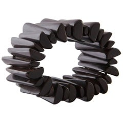 Ebony Bracelet from Hand-Carved Elements, circa 1970s