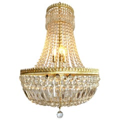 French Empire Style Crystal Waterfall Chandelier