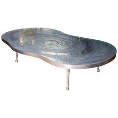 Low Table I Aluminium and Agate Stone