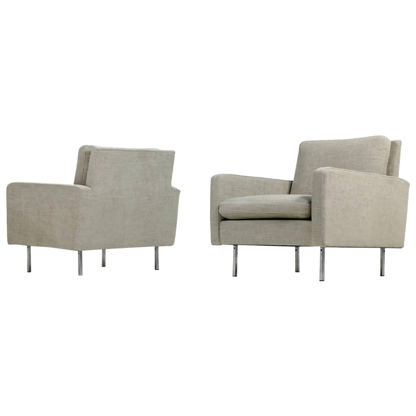 Pair of 1960s Florence Knoll Lounge Chairs Model 25 BC for Knoll International