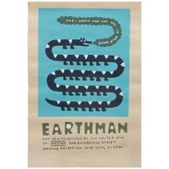 Jim Houser Earthman Silkscreen Spector Gallery Artwork Philly Margaret Kilgallen