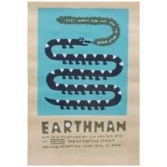 Jim Houser Earthman Silkscreen Spector Gallery Artwork Philly Margaret Kilgallen