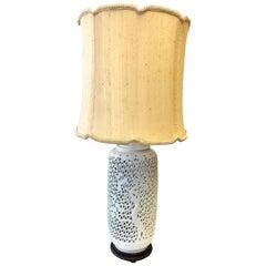 Vintage Pierced Porcelain Blanc De Chine Tall Lamp