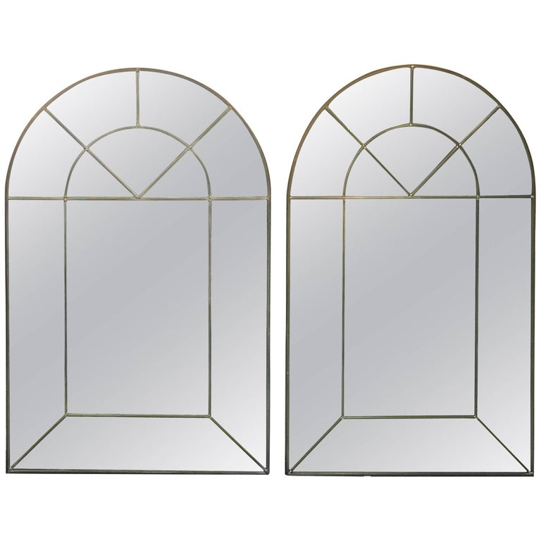 Pair of Arched Mirrors by Carol Canner Signed, 1973