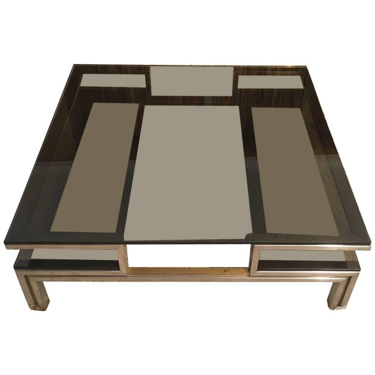 1970s French Coffee Table by Guy Lefèvre