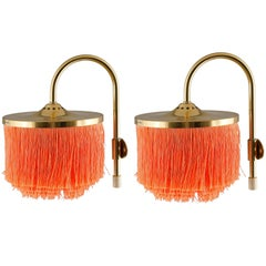 Pair of Fringe Wall Lamps V271 by Hans-Agne Jakobsson