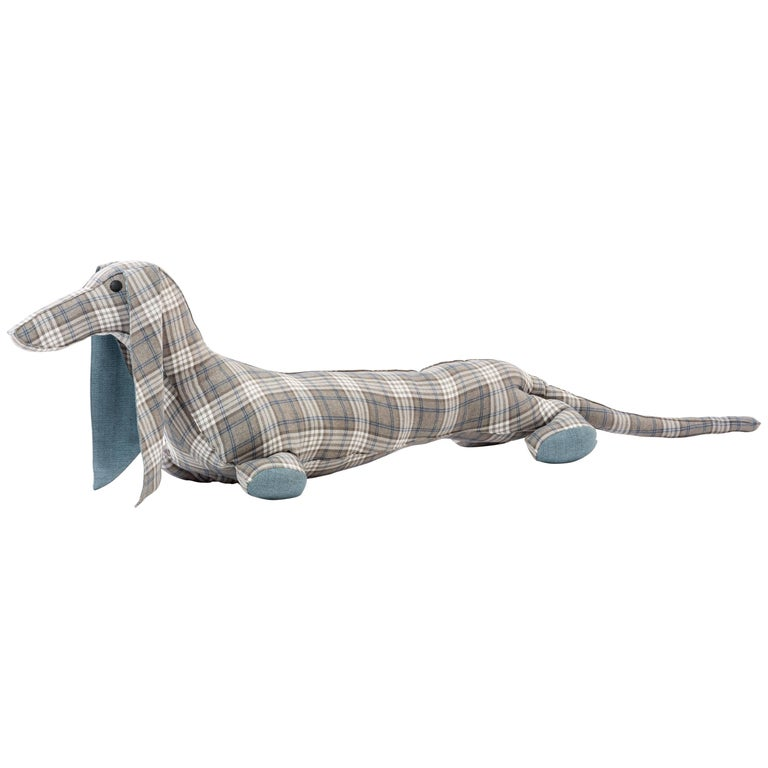 Large Dachshund Floor Pillow by Sarit Shani Hay in Cotton Blend