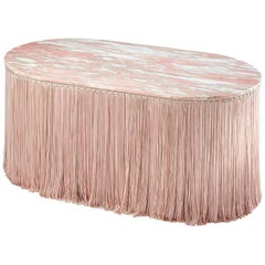 Tripolino M Low Table in Marble Fringes by Cristina Celestino X Editions, Milano