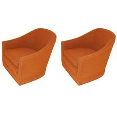 Pair of Harvey Probber Swivel Chairs