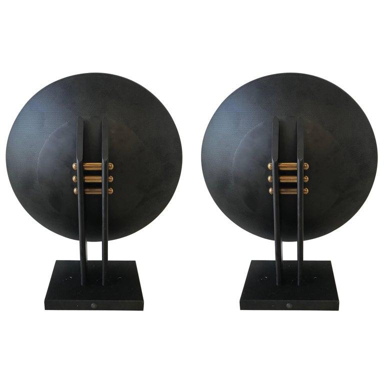 Pair of Post-Modern Sconces Designed by Robert Sonneman for George Kovacs
