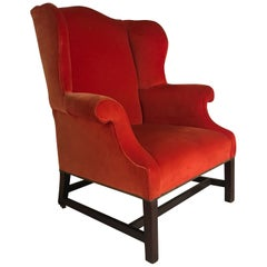 Extremely Orange Wingback Chair