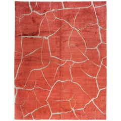 Abstract Design Red Rug