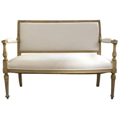 French Painted Directoire Style Canapé, circa 1850