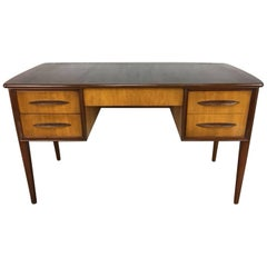External Frame Danish Desk in Pecan and Walnut